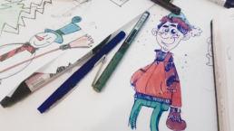 Disegno di studio, video d'animazione Natale