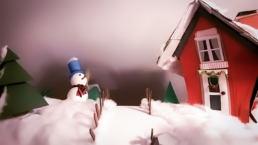 Scenografia video d'animazione Natale